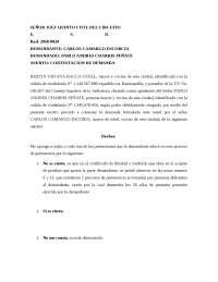 CONTESTACION DEMANDA DE PERTENENCIA