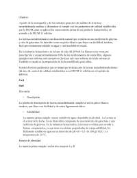Certificado de análisispara materia prima, Lactosa monohidratada
