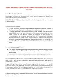 GIOVANI, I PERDENTI DELLA GLOBALIZZAZIONE? LAVORO E CONDIZIONE GIOVANILE IN EUROPA E IN ITALIA