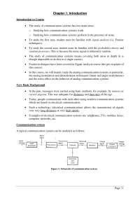 Analog Communication Systems