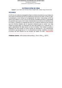 Extracción de ARN, laboratorio de toxicología y genética