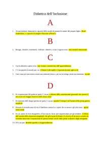 test didattica dell'inclusione