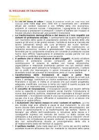 """Domande del """"Welfare in transizione"""""""