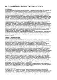 La Vetrinizzazione Sociale - Vanni Codeluppi (Riassunto)
