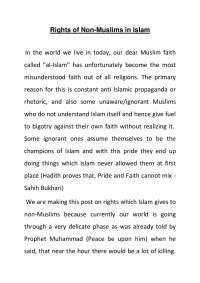 ISLAMIYAT LECTURE NOTES