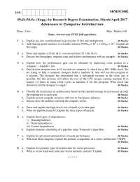 Advanced computer architecture question paper
