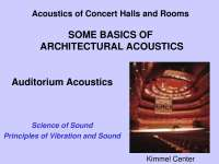 Acoustics of Concert and Halls