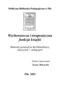 Wychowawcza i terapeutyczna funkcja książki, Notatki'z Bibliotekoznawstwo