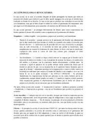 acción pauliana o revocatoria + INCUMPLIMIENTO de la prestación