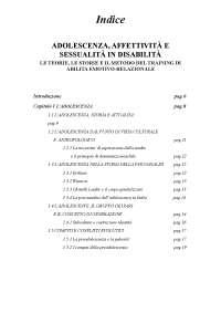 Tesi su adolescenza, affettività e sessualità il disabilità