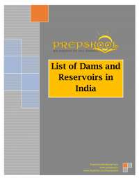 DAMS AND RESERVOIRS STATE WISE