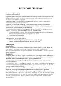patologia del seno. appunti di senologia per ostetriche