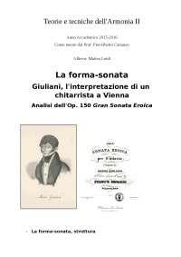 La forma-sonata Giuliani, l'interpretazione di un chitarrista a Vienna
