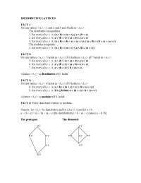 lattice and distributive laattice