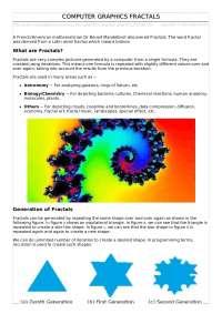 fractals in computer graphics