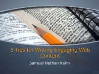 5 Tips for Writing Engaging Web Content