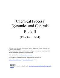 chemical process dynamics and control