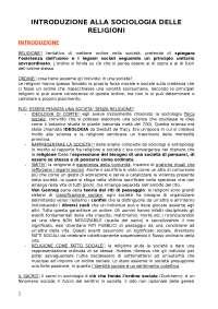 Pace, Enzo, Introduzione alla sociologia delle religioni. Roma: Carocci, 2013