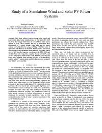 Literature study on wind and PV integrated system