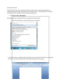 Step by step to learn microsoft word