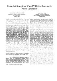 Combine non conventional energy , Thesis for Power Electronics