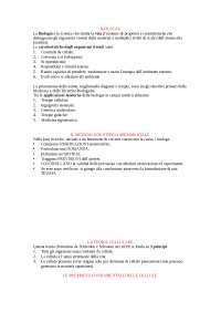 Biologia riassunti preparazione esame medicina