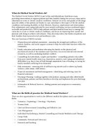 Role of Medical Social Worker