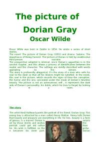 riassunto in inglese: Dorian Gray