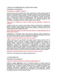 PERCORSO DI AUTOVALUTAZIONE (Psicologia clinica, Ezio Sanavio, Cesare Cornoldi)