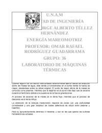 ENERGÍA MAREOMOTRIZ EN México