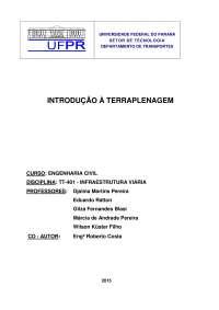 Terraplanagem estradas, Manuais, Projetos, Pesquisas de Engenharia Civil