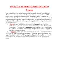 manuale di diritto penitenziario, premessa, Troncone