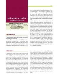 Patologie Renali come fattore di rischio cardiovascolare