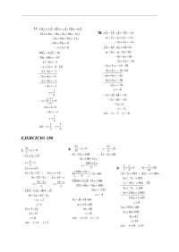 preguntas de ejercicios de algebra