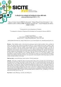 Avaliação da reologia da farinha de trigo aditivada com acerola em pó (0,5 e 1 %)
