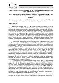 Água mineral - Características Físico-químicas de Qualidade Universidade Federal de Pelotas-RS