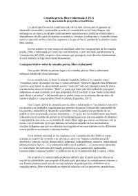 Consulta previa - Extrativismo