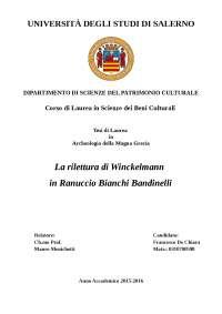 LA RILETTURA DI WINCKELMANN IN RANUCCIO BIANCHI BANDINELLI