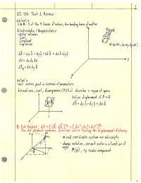 Electrostatics Notes