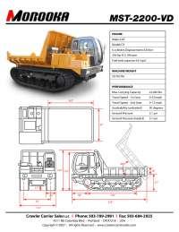 MOROOKA MST2200-VD manufacturers data