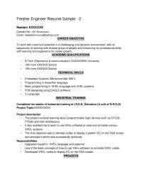 resume sample for students