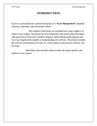 Synopsis on Gym Management System
