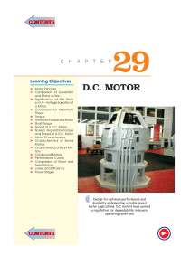 A Lecture note for DC motor chapter 29