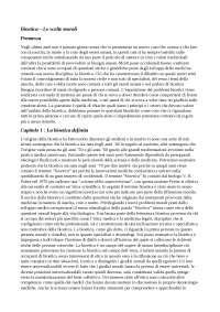 "Riassunto E. Lecaldano, ""Bioetica, le scelte morali"""