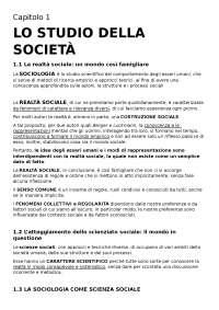 riassunto SOCIOLOGIA, di Ambrosini e Sciolla