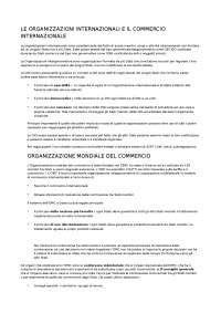 ORGANIZZAZIONI INTERNAZIONALI E COOMERCIO