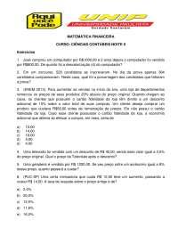 CURSO: CIÊNCIAS CONTÁBEIS