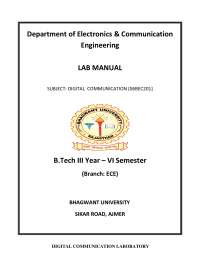 communication lab 6 sem lab