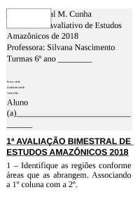 Avaliação de Estudos Amazônicos