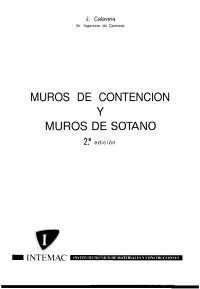 DISEÑO DE MUROS DE CONTENCION Y DE SOTANO
